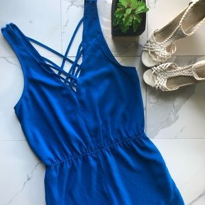 Silence + Noise Urban Outfitters Blue Romper